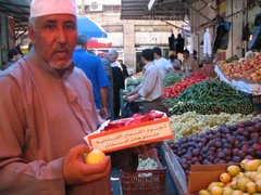 At the vegetable market in Amman....