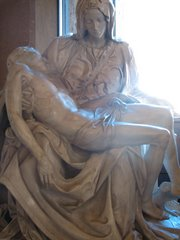 Light on the Pieta...