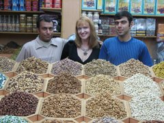 At the spice market in Dubai with friends...