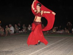 Bellydancer in the desert