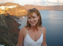 In the cliffs above Oia -