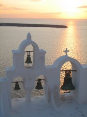 Sunset view at Oia, Santorini, Greece...