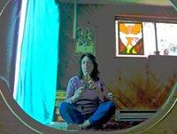 Meditation room mirror