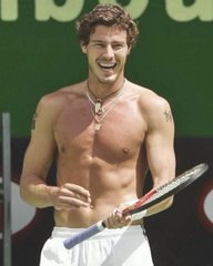 Shirtless Safin with Charming Smile