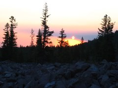 Sunset at Lassen NP