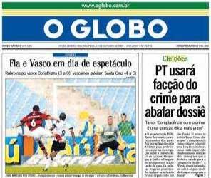 Manchete desonesta de O Globo