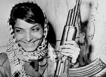 Leila Khaled, an Arab woman