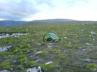 campsite at Lochan Odhar