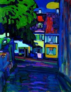 Murnau, casas en el Obermarkt de Kandinsky (Colección Carmen Thyssen-Bornemisza)