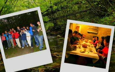 I ragazzi di famiglia aperta durante la escursione a Lago di Ponte e al Colle del Tramazzo