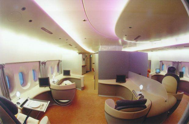 Airbus A380 cabin interior - L\'intérieur de l\'Airbus A380 | Non ...