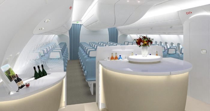 L 39 int rieur de l 39 a350 the cabin interior of the a350 for Interieur avion
