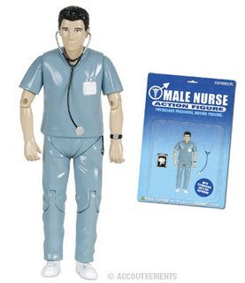 A Male Nurse Action Figure.
