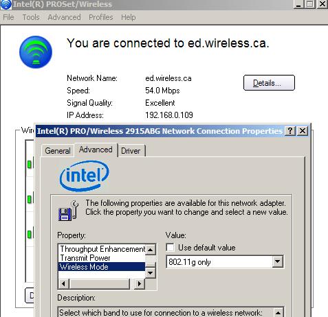 intel proset wireless driver only