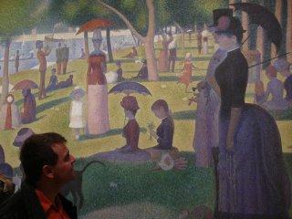 En el Chicago Art Institue con mi cuadro favorito