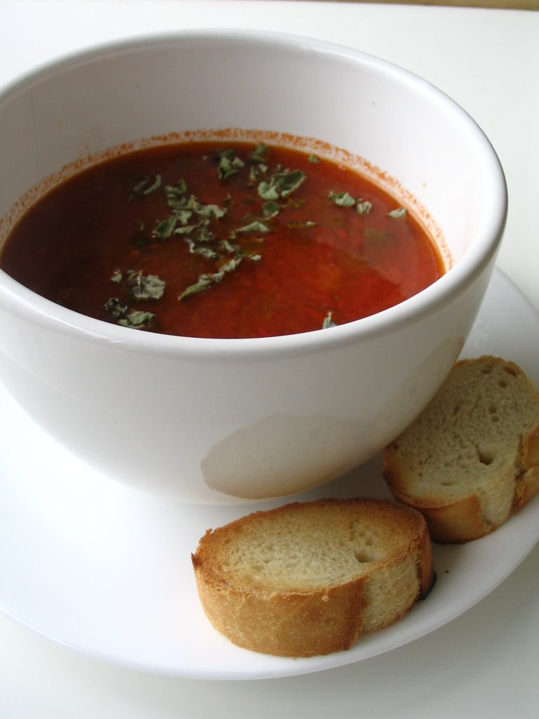 Almost Turkish Recipes: Tomato Soup with Rice (Pirinçli ...