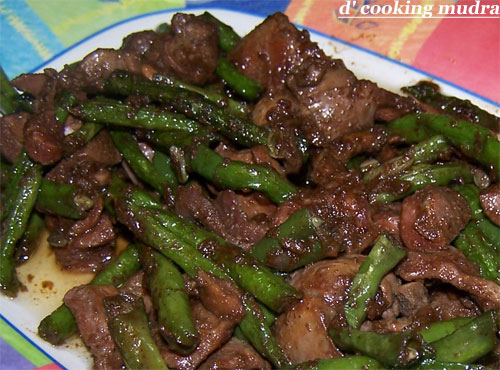 """DCookingMudra: """"Chicken Liver and Gizzard Stir-fry"""""""