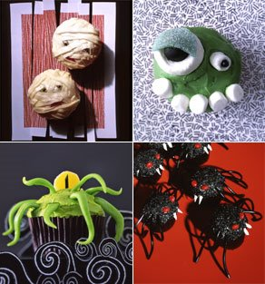 i love the mummy cakes the cyclops visit martha stewartcom for instructions these picks are perfect if you are hosting a halloween party - Martha Stewart Halloween Cakes