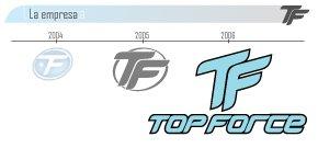 Logotipo Topforce marca de palas de padel