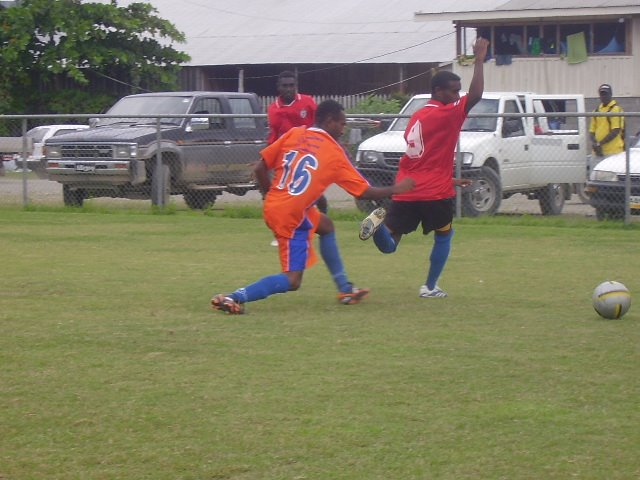 SFC Team 2's Sammy Wara Defending Against LS Kuma