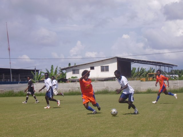 SFC Team 1's Brown Defending - Match Against Young Corner