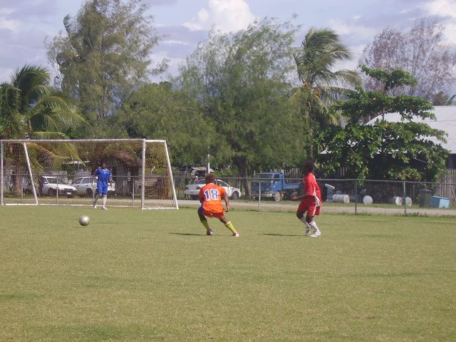 SFC Team 2's Mark Attacking Against KGVI Blue
