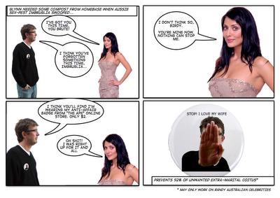 Comic Strip Art #2 - Imbruglia is denied by Anti-Affair Badge