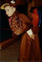 My brother, Wally, in a turkey costume for his kindergarten play in 1971