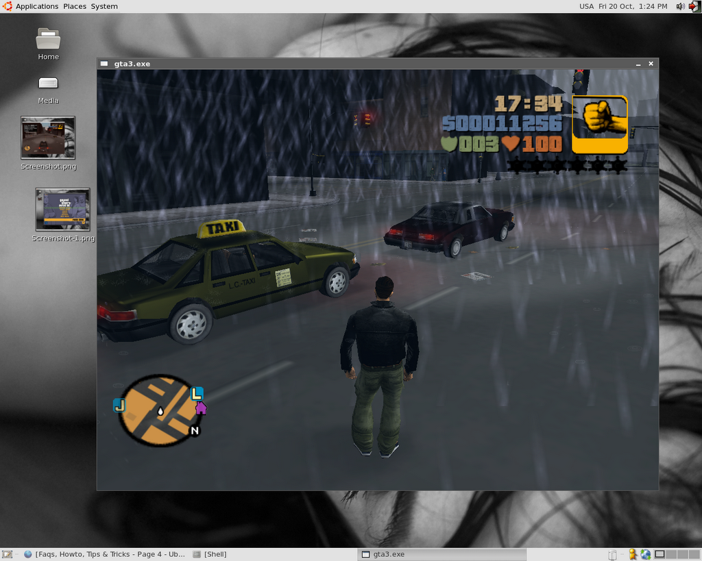 Tux -o- Blog: How to run GTA 3 with Wine