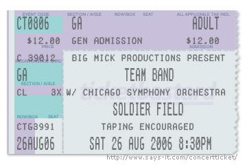False 45th make your own ticket stub for Make your own concert tickets