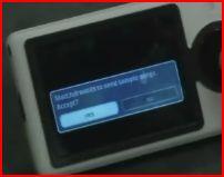 Zune's Notification dialog box