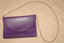 Lila vintage handväska m guldkedja