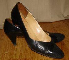 Svarta vintage skor