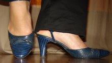 Blå vintage sko