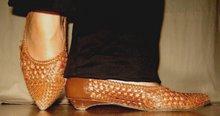 Brun flät-sko