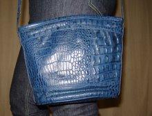 Blå vintage väska