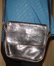 Svart vintage skinnväska