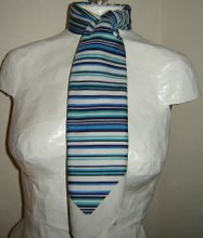 Blvit randig scarf
