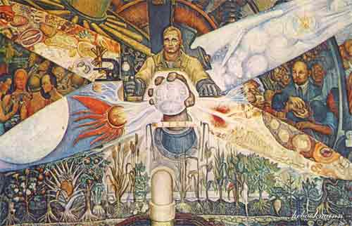Timeless thebookmann feinin the inherent nobility of for Diego rivera mural at rockefeller center