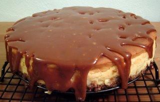 Weevalicious Recipes: Banana-Rum Cheesecake with Caramel Sauce