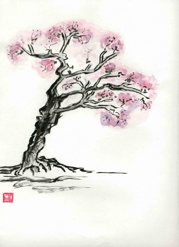 Comment Dessiner Un Cerisier Japonais le retour des rônins: ancien poème