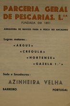 PARCERIA GERAL DE PESCARIAS