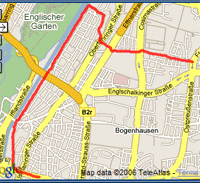 Map of 18/09/06 run