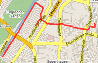 Map of 13/11/06 run