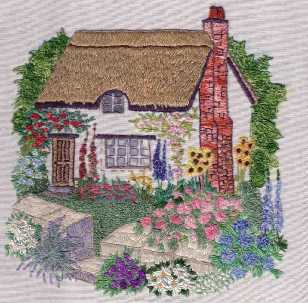 Through the hoop freestyle embroidery needlepainting for Garden embroidery designs free