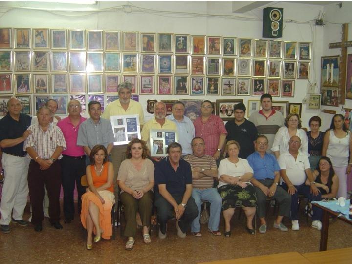 COLOQUIO DE EOS EN EL PERDON. MANUEL MIGUEL Y PACO CARLES RECIBIERON SUS CUADROS DE LA CREU MARINER