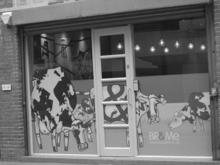 Cows in a Window in Covent Garden