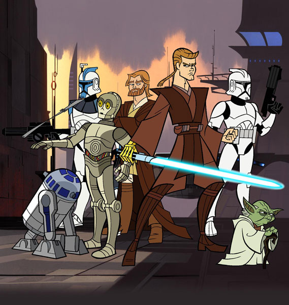 Star Wars Clone Wars Mini Series Star Wars Clone Wars Cartoon
