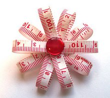 Measuring Tape Brooch