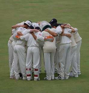 A group of players mourn Cricket Umpiring